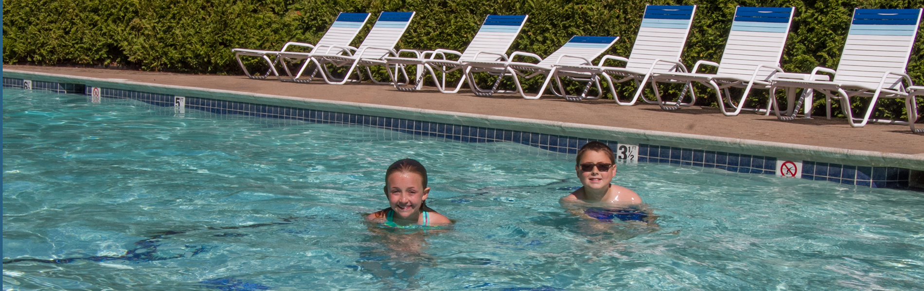 Photo of Kids Enjoying the Pool at the Bar Harbor Motel