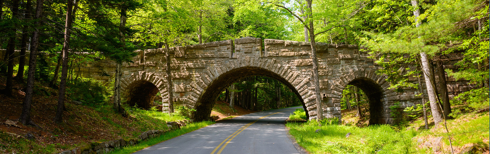 Photo of Bridge on the Park Loop Road in Acadia National Park, Bar Harbor, Maine